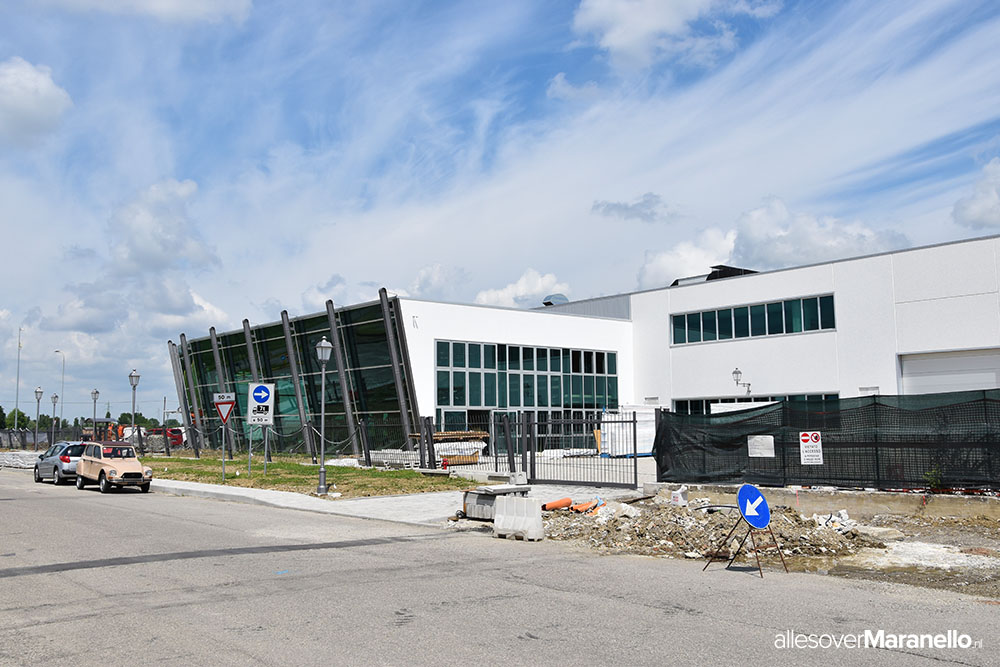 De nieuwe locatie van de Pagani fabriek in Italie