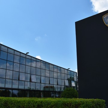 De Lamborghini fabriek in Sant'Agata Bolognese in Italie