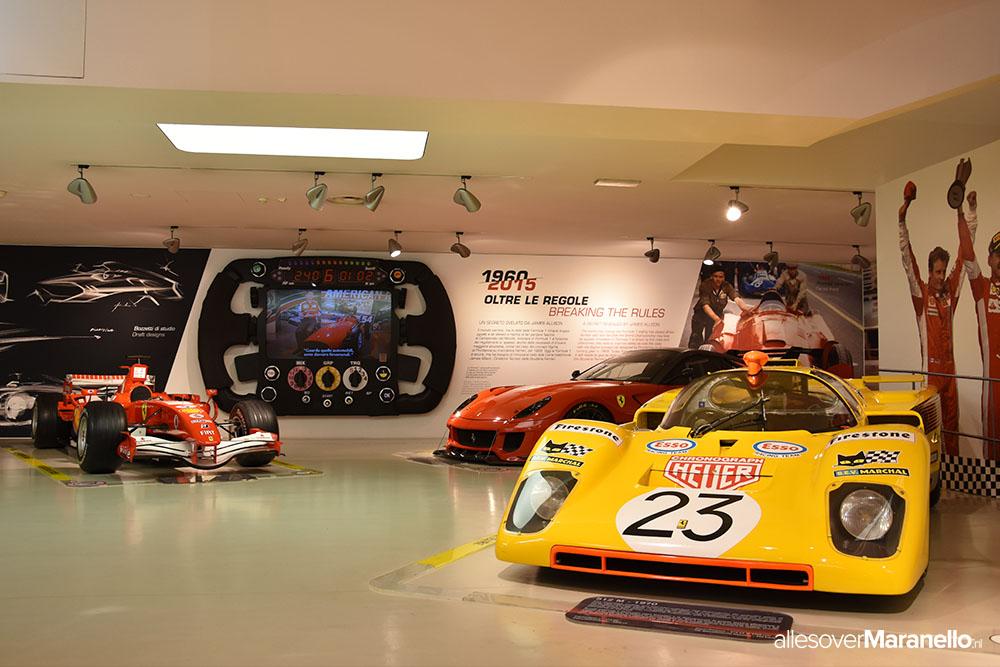 Het Ferrari museum in Maranello